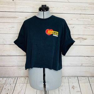 Vintage Hooker Headers Crop T-Shirt 80's Logo XL
